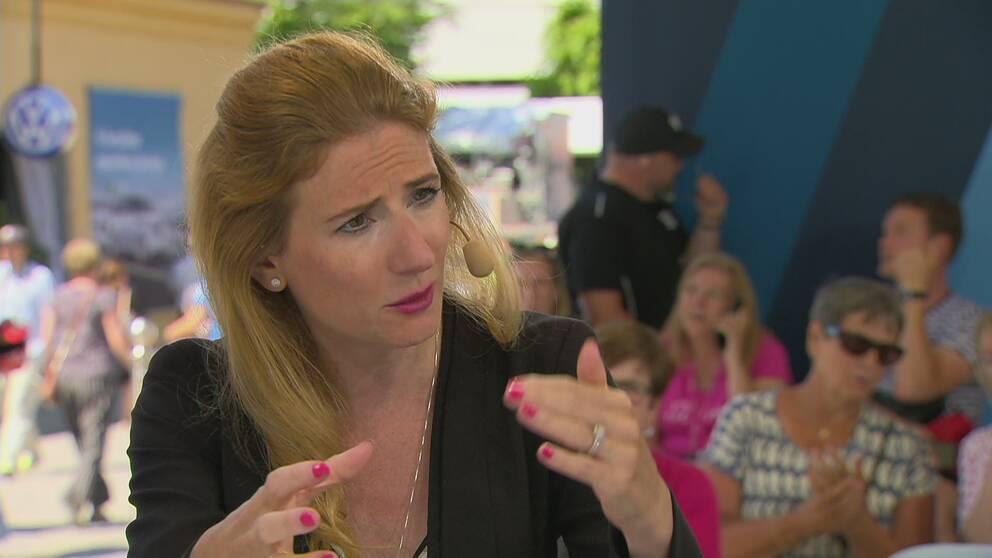 Caroline Szyber (KD) debatterade bostadspolitik i Almdalen.