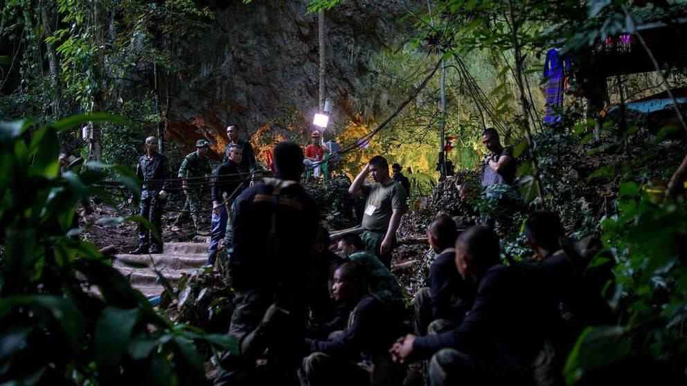 En grupp militärer i naturen.