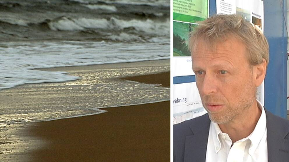 Stranderosion och Per Danielsson, nationell samordnare för stranderosion vid Statens geotekniska institut (SGI).