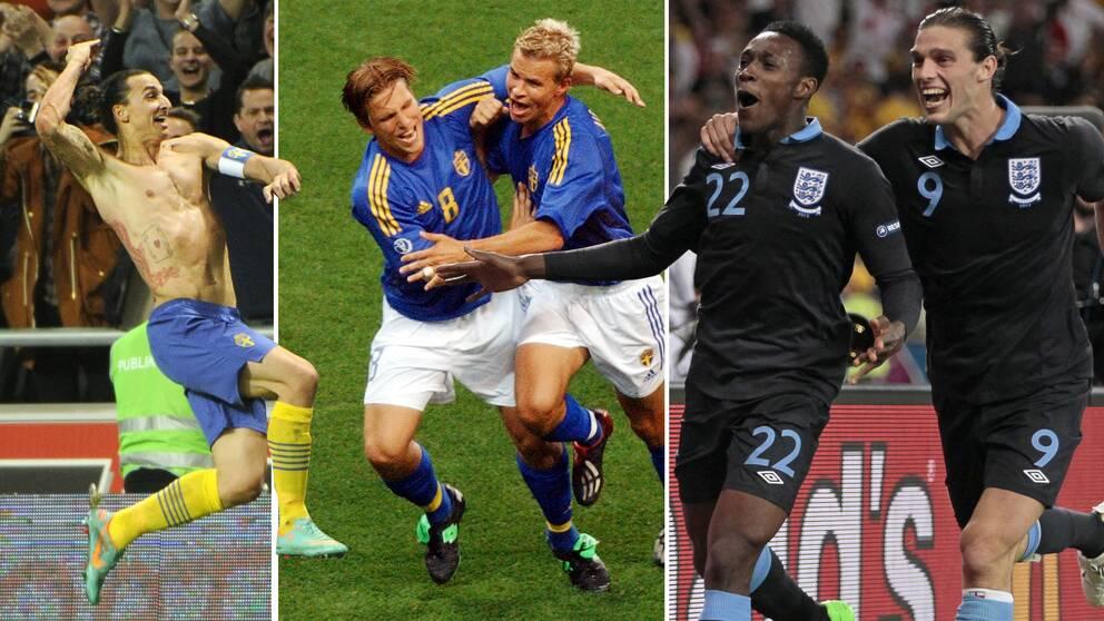 Sverige och England har haft flera häftiga möten de senaste åren. Foto  TT cbd9553ffbdf1