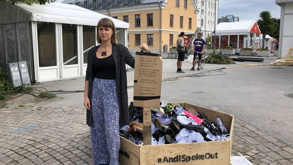 Kristina Wicksell, kommunikatör på Make Equal, som står bakom konstprojektet.