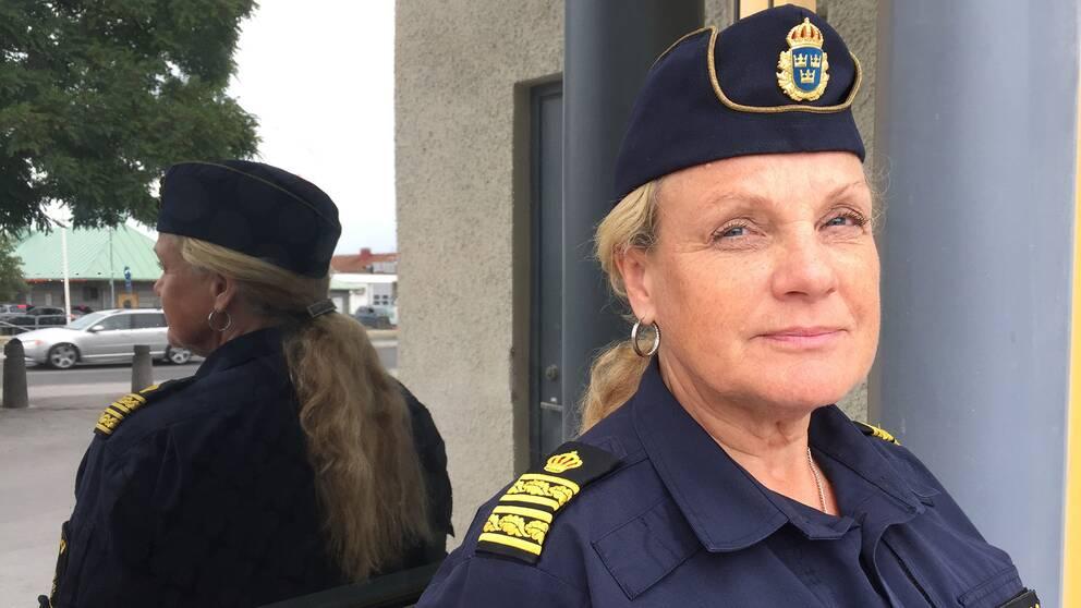 Polisens kommanderingschef Annika Lindroth.
