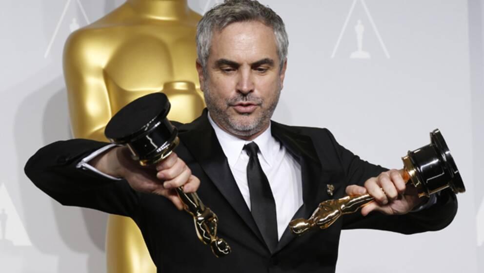 Gravity-regissören vann två guldgubbar. En oscar för bästa regi, och en för bästa klippning.