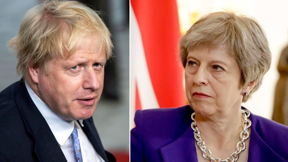 Boris Johnson och Theresa May