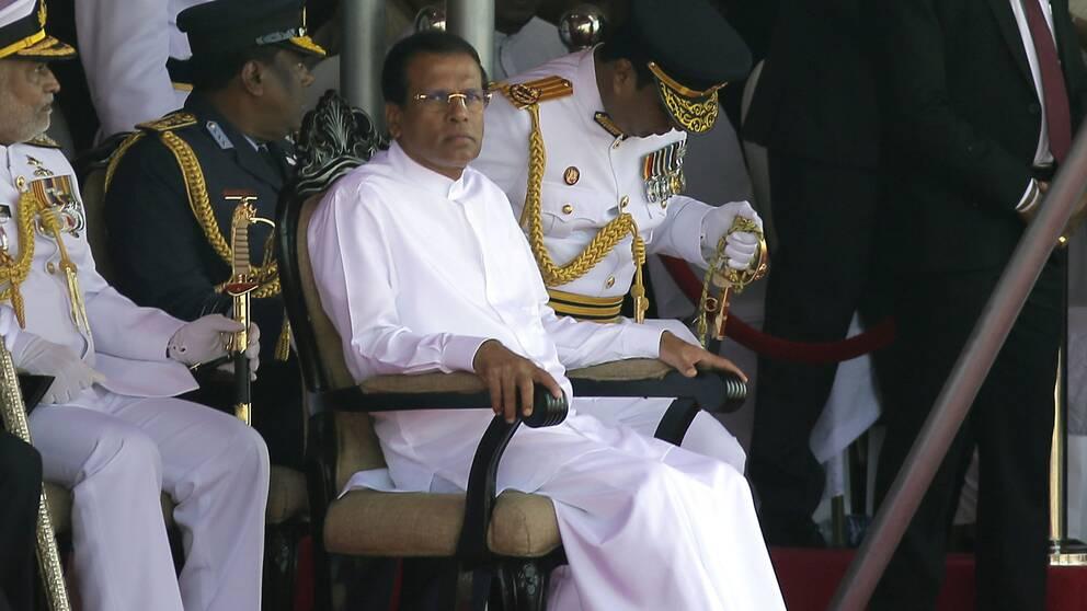 Sri Lankas president Maithripala Sirisen.
