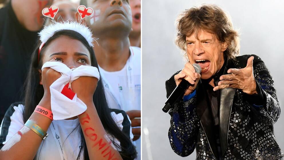 Mick Jaggers stöd var inte välkommet av alla när England föll mot Kroatien i semifinalen i fotbolls-vm.