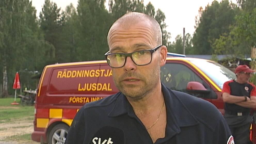 Kenneth Eriksson, räddningsledare vid räddningstjänsten i Ljusdal.