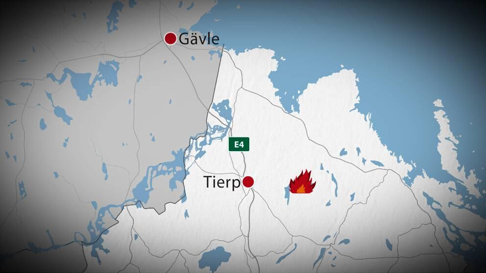 Karta: Här brinner det i Stormossen