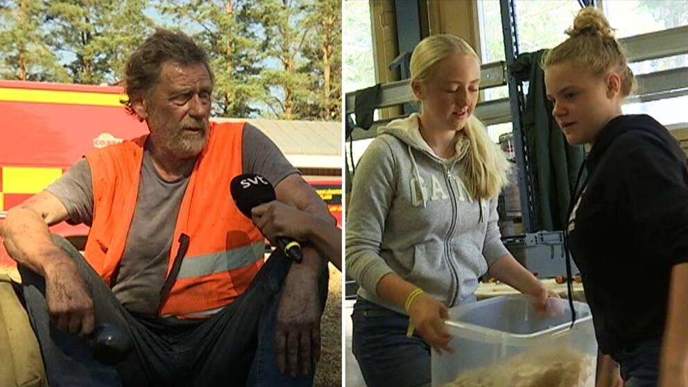 Frivilligarbetare i Hammarstrand.