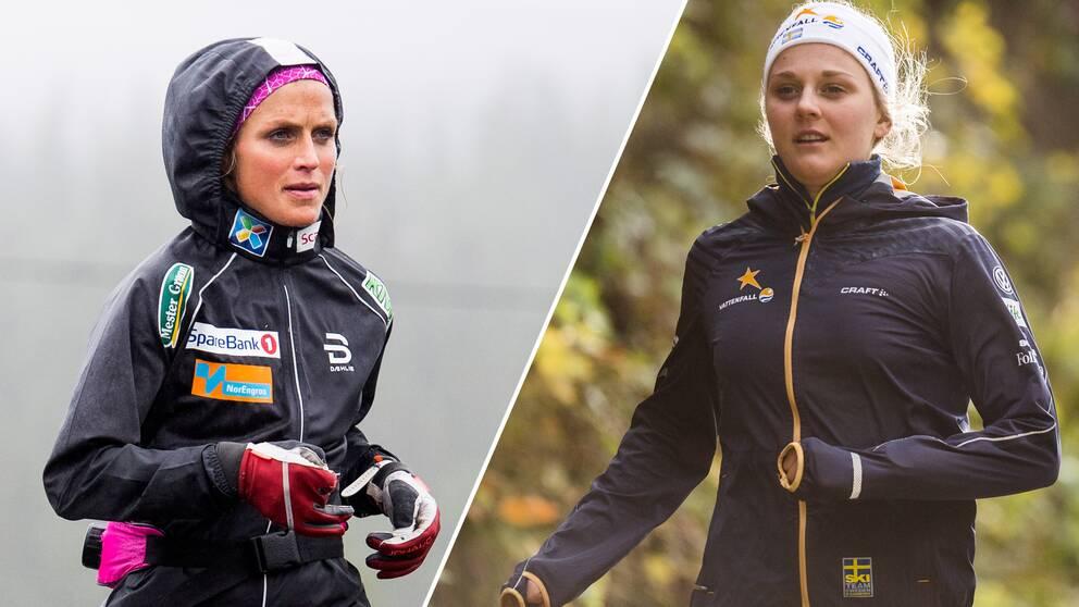Therese Johaug och Stina Nilsson.
