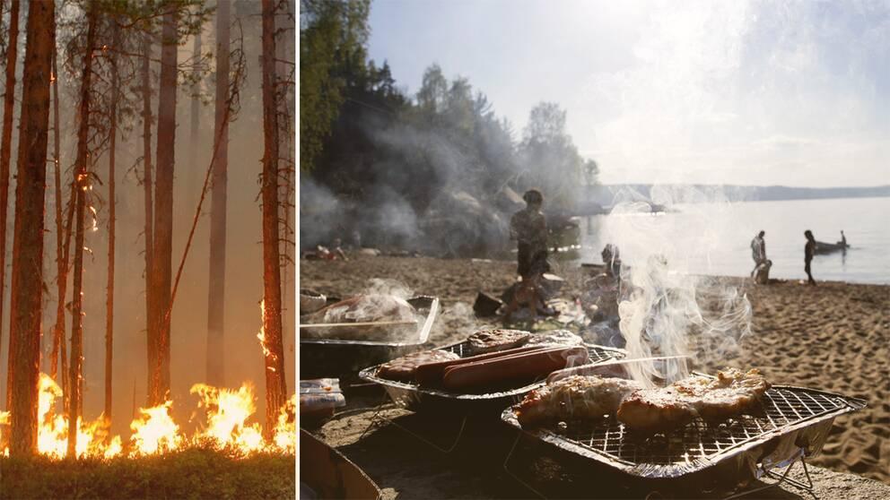 eldning grillning eldningsförbud
