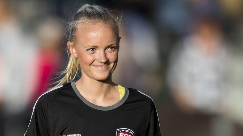 Emma Pennsäter, här inför en match mellan Rosengård och Vittsjö i augusti 2015.