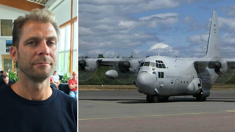 Anders Björk, räddningstjänsten, och Herkulesplan på Jönköpings flygplats