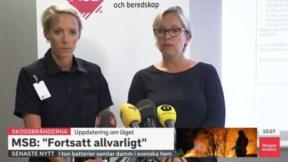 MSB: Hög risk för nya bränder