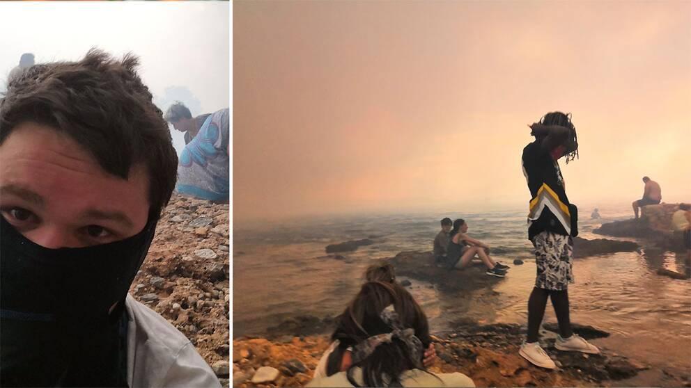 Marcus Befann Sig I Elddrabbade Grekiska Orten Evakuerades
