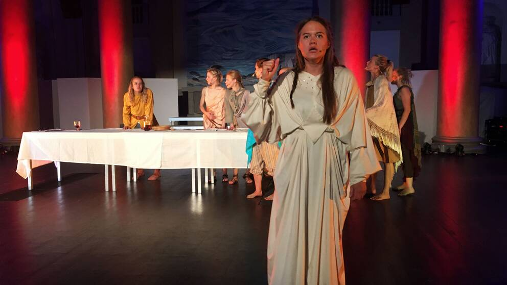 Sandra Kassman spelar rollen som Jesus i den feministiska tolkningen av Jesus christ superstar