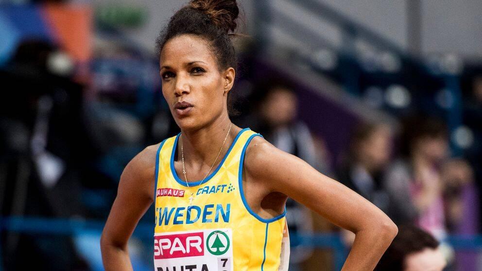 Sveriges, Meraf Bahta tävlar i 1500m försök damer under inomhus-EM i friidrott den 3 mars 2017 i Belgrad.