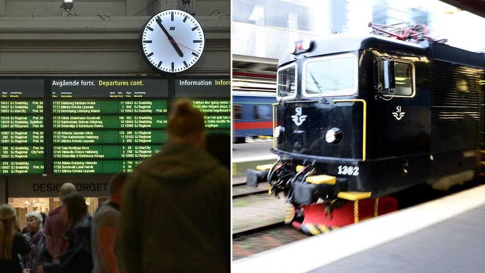 Berörda resenärer kan fritt boka om sin resa eller få pengarna tillbaka, skriver SJ.