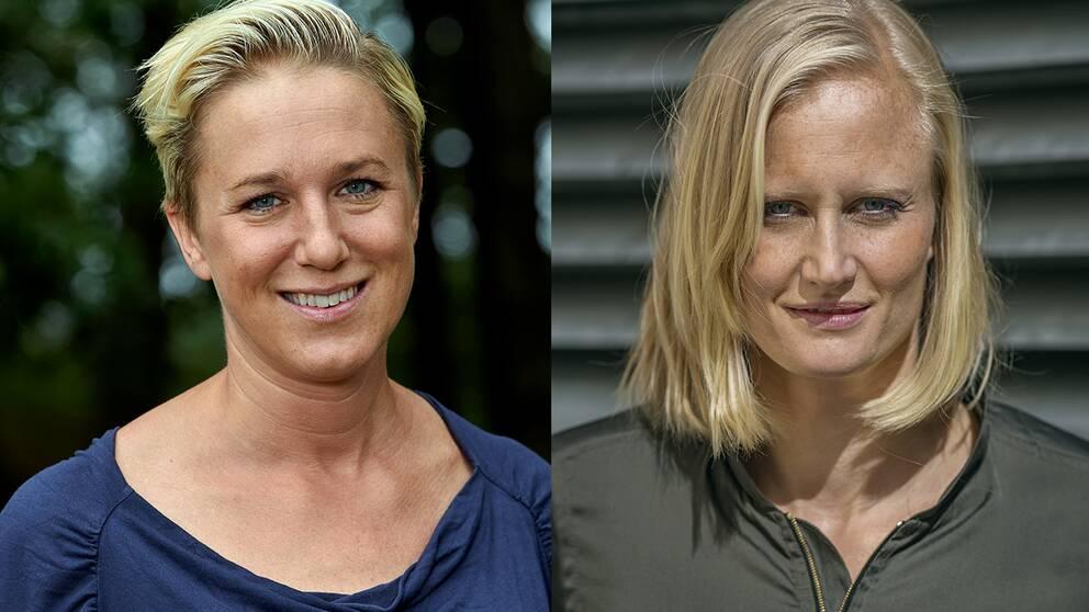 Kajsa Bergkvist och Carolina Klüft