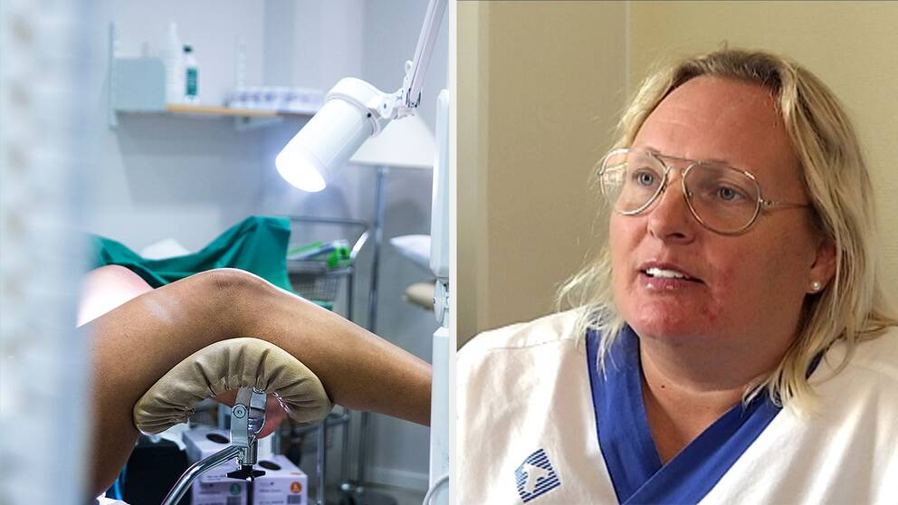 Genrebild och Katia Dahl Nordström, verksamhetsutvecklare för kvinnokliniken i Region Kronoberg.