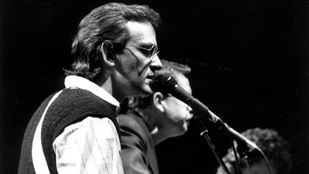 Sångaren och låtskrivaren Björn Afzelius 1986.
