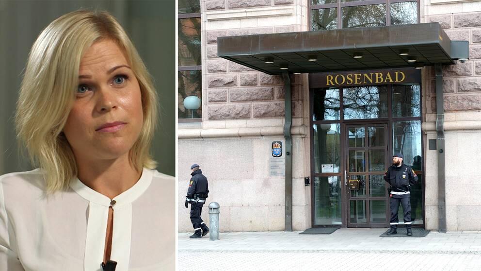 Paulina Brandberg på justitiedepartementet säger att de grundläggande humanitära principerna kommer i första hand.