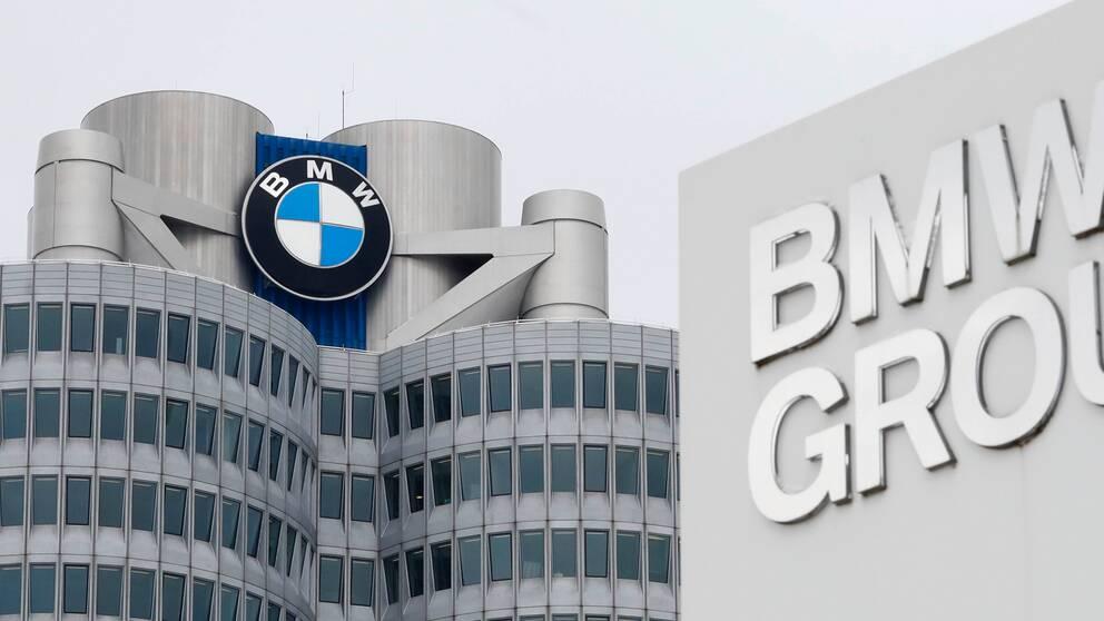 Den tyska biltillverkaren BMW:s högkvarter i München i Tyskland. Arkivbild.