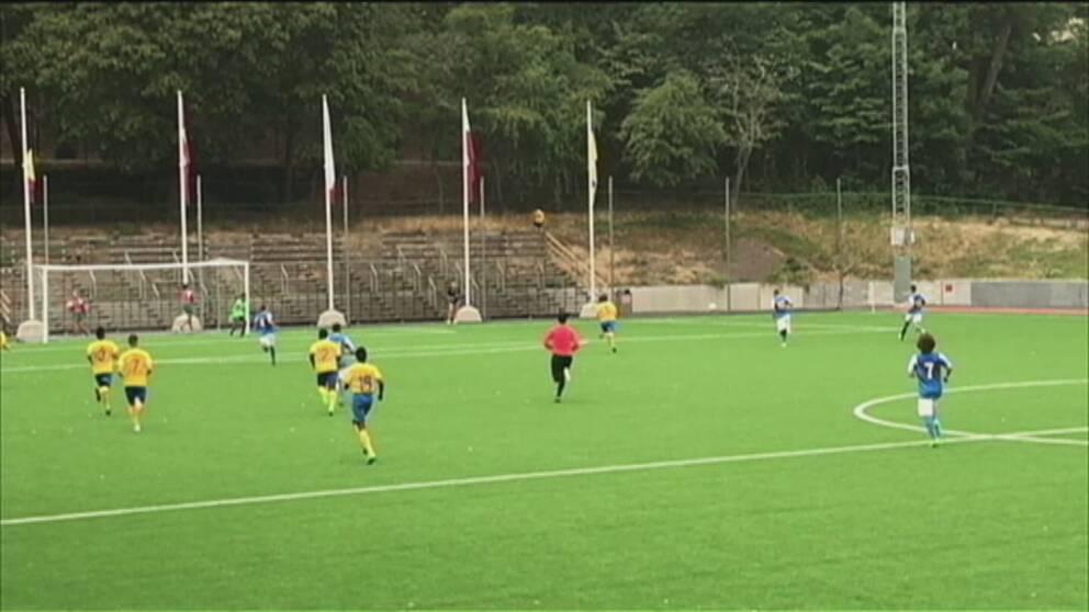Sverige förlorade mot Ukraina med 1-4.