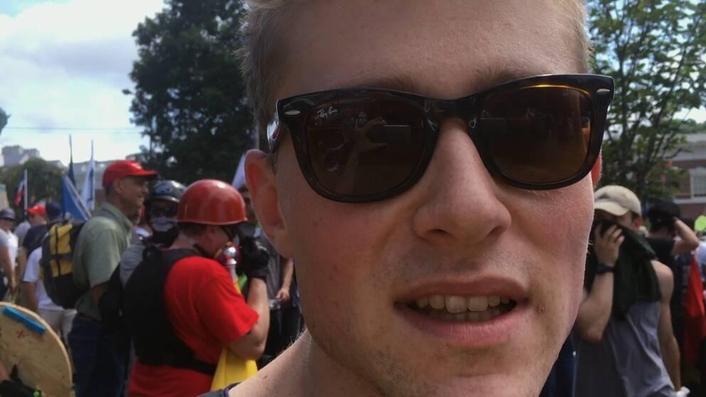 Studenten Patrik Hermansson infiltrerade Alt-rightrörelsen och var bland annat med i Charlottsville.