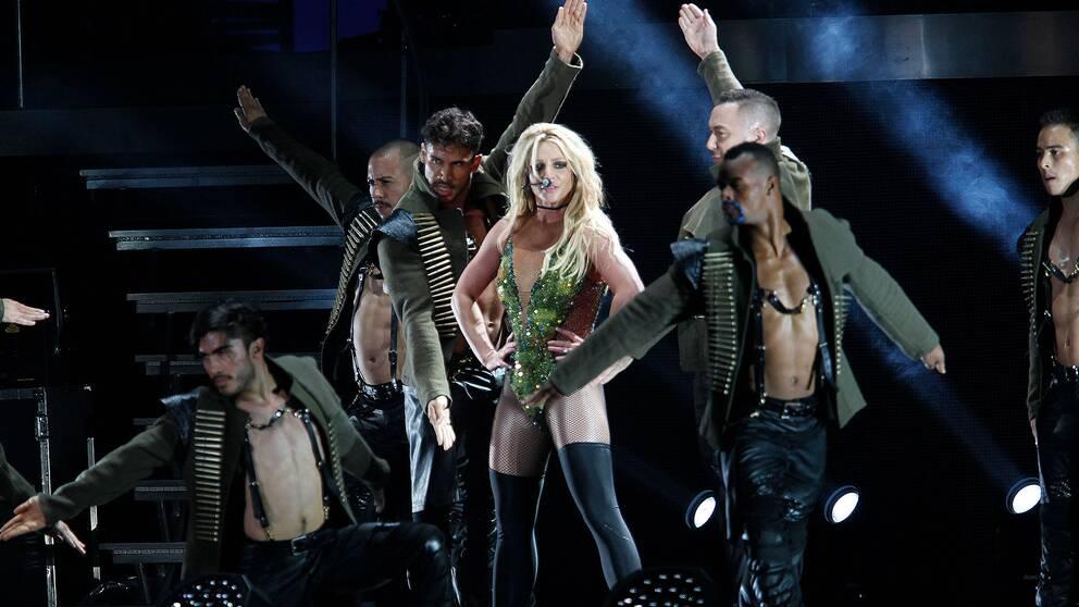 Arkivbild från tidigare show med Britney Spears