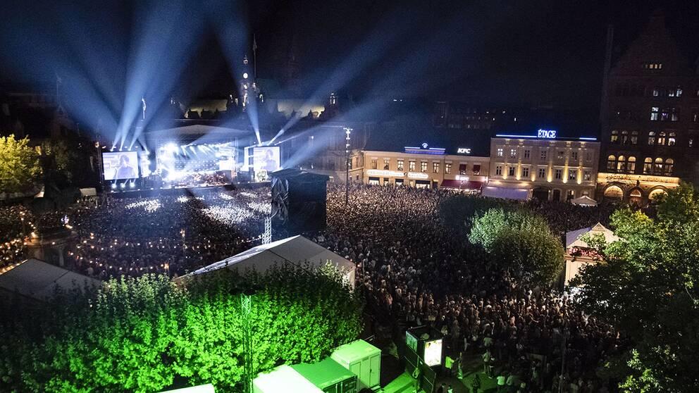 Drönarbild över Malmöfestivalen