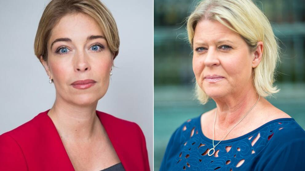 Annika Strandhäll (S) och Camilla Waltersson Grönvall (M)