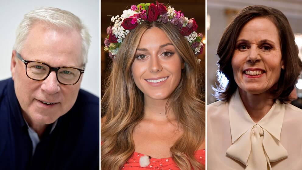 Anders Berglund, Bianca Ingrosso och Sara Danius