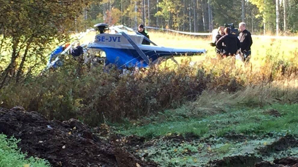 En skadad i helikopterolycka