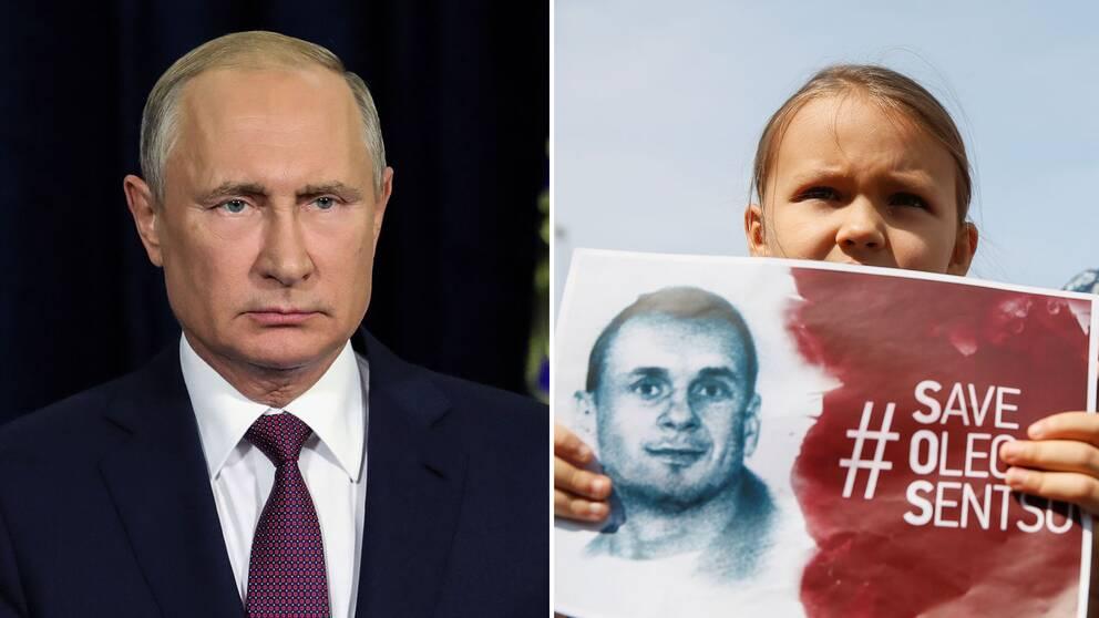 Demonstrationerna i Kiev, Ukraina, för Oleg Sentsovs frigivning fortsätter medan regissörens tillstånd nu är kritiskt.