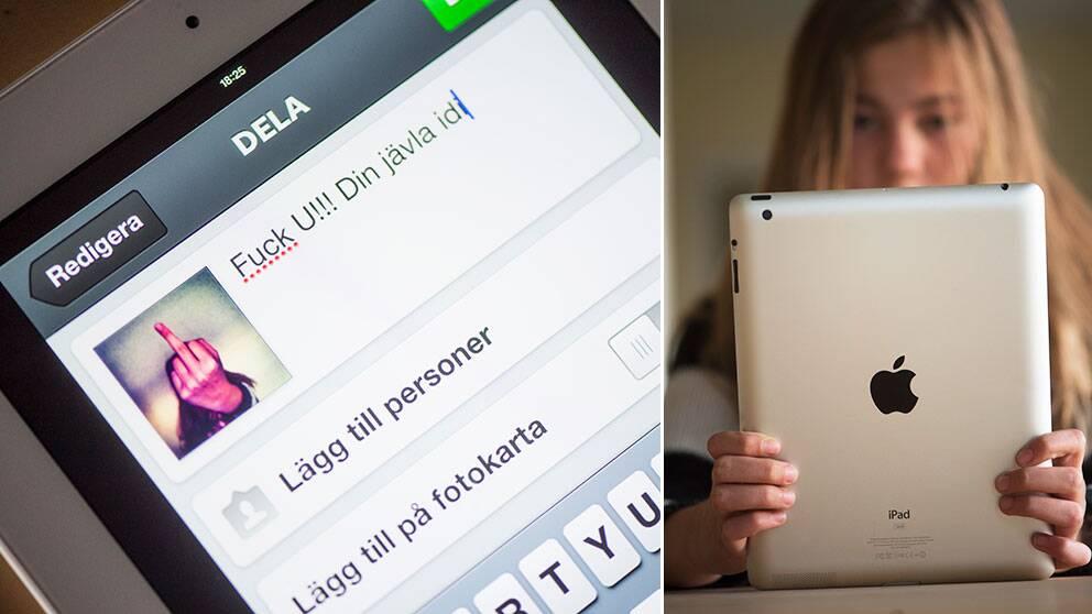 Många ungdomar utsätts för kränkningar på nätet, värst utsatta är tonårsflickor.