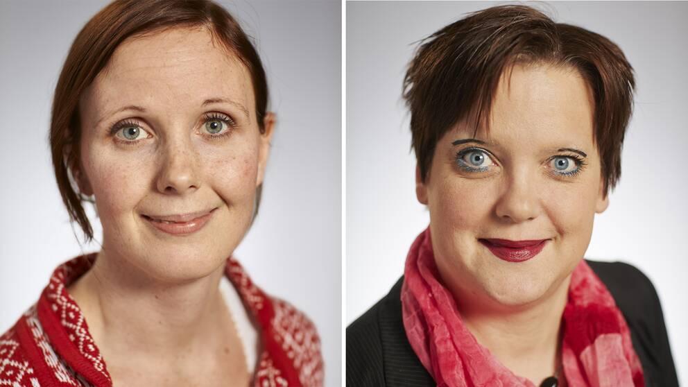 Anna Maria Romlid (V) och Amanda Agestav (KD)