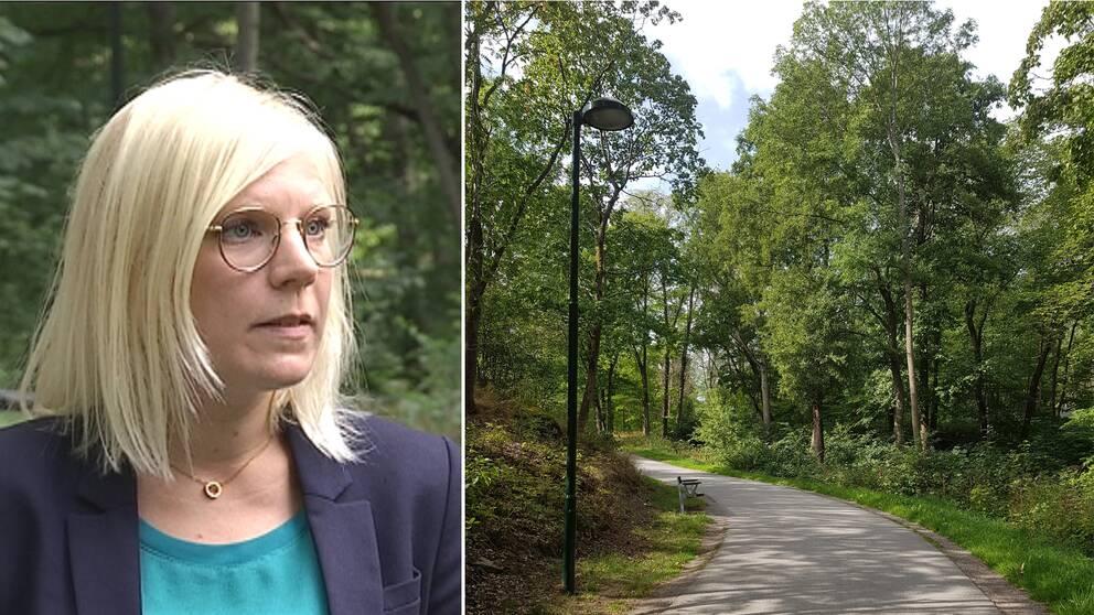 Karin Ernlund och Årstaskogen