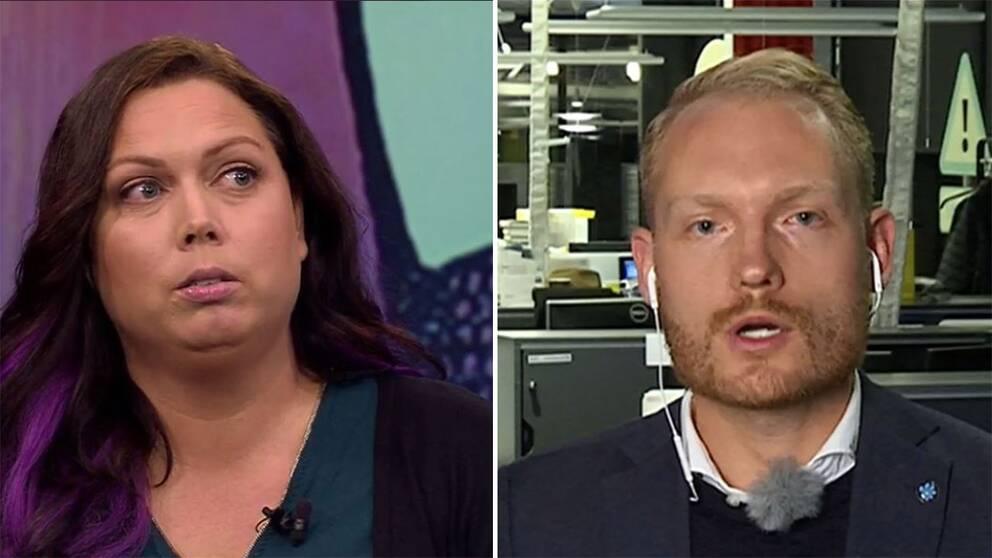 Christina Örnebjär, som sitter i Kulturutskottet för Liberalerna, och Aron Emilsson, Sverigedemokraternas kulturpolitiska talesperson