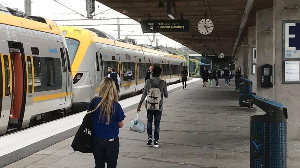 Tågstationen i Kungsbacka.