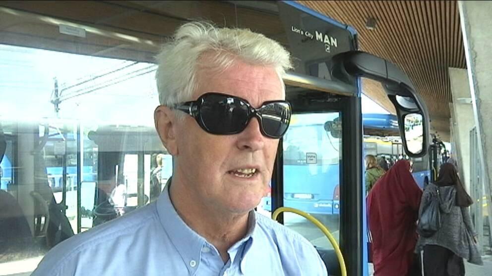 Busschauffören Hans Ekström i Kungsbacka.