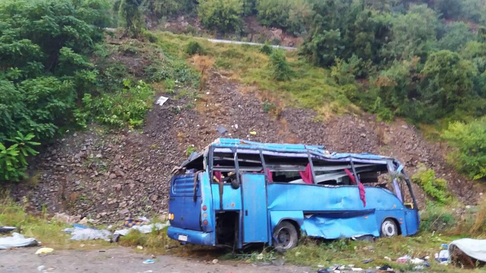 Andra allvarliga bussolyckor