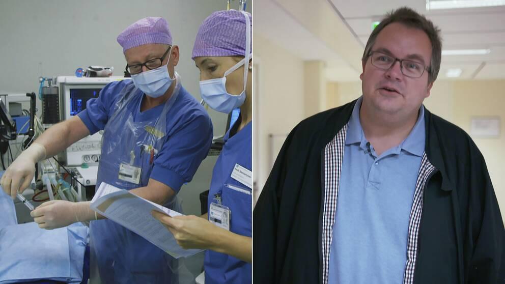 Mathz Myrins operation på sjukhuset i Östersund ställdes in när han var på väg in till operationssalen.