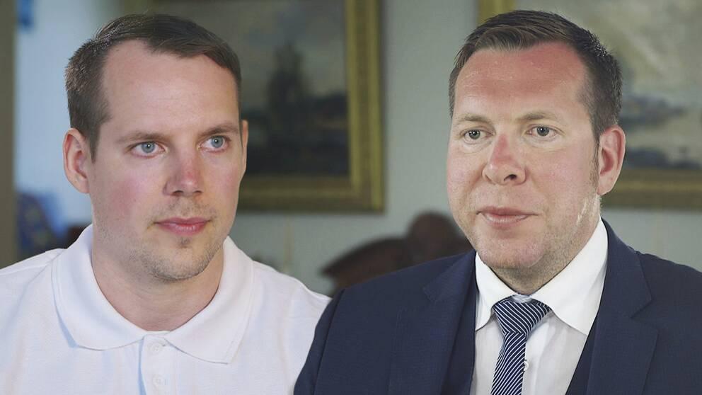 Christoffer Dulny och Daniel Friberg i Uppdrag granskning