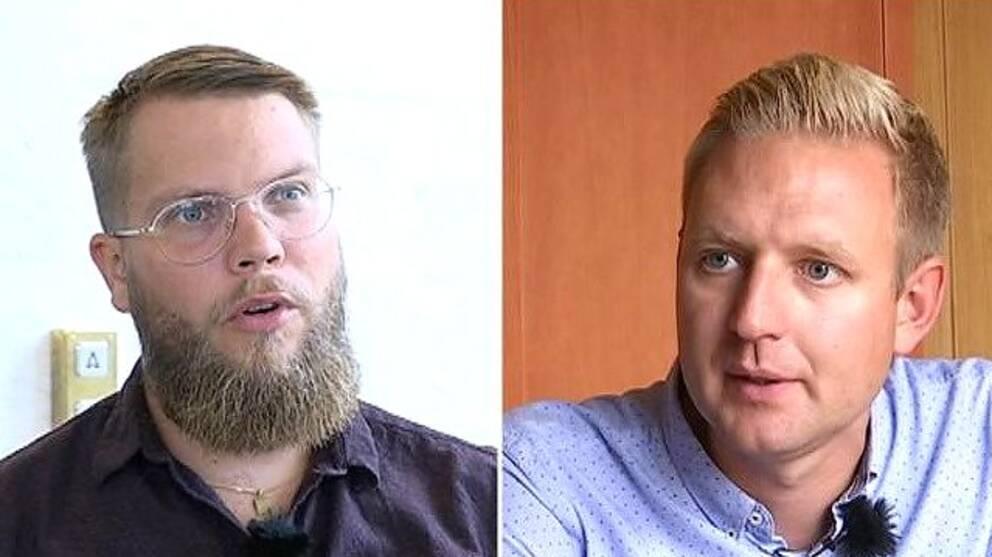 Per Johansson (C) och Per Svensson (S)
