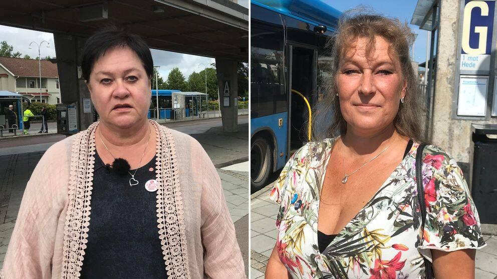 Kommunalrådet Eva Borg (S) och andranamnet Lisa Andersson (M) i Kungsbacka.