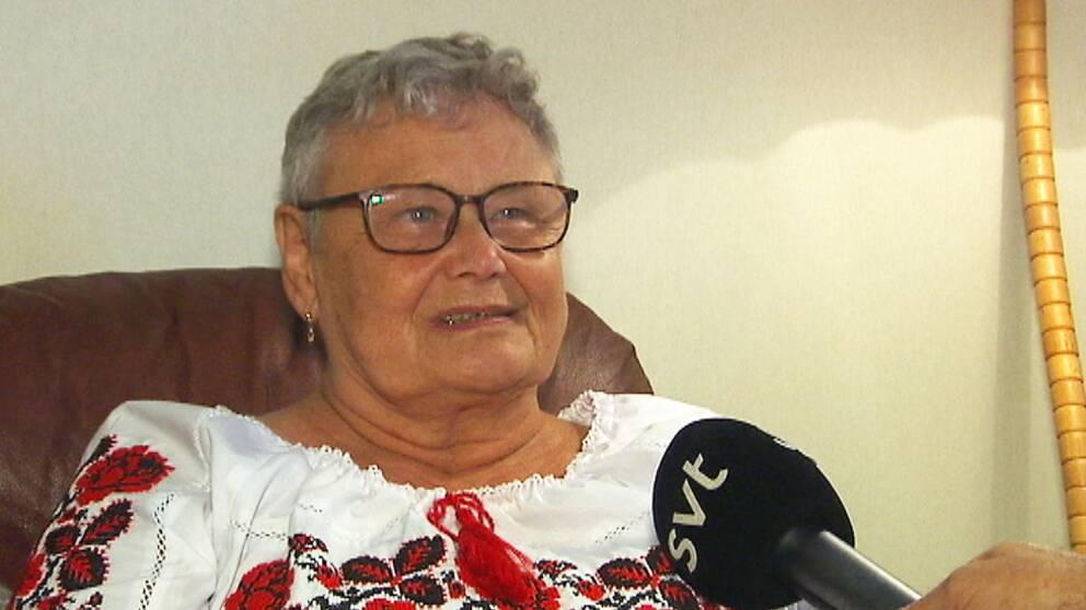 Yrsa Häggström, i Karlstad, anklagas för att ha spridit nazistiska åsikter – något hon förnekar