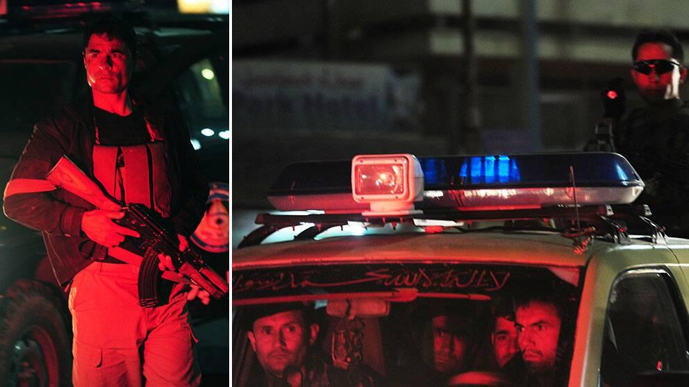 Säkerhetspersonal på Serena hotel i Kabul.