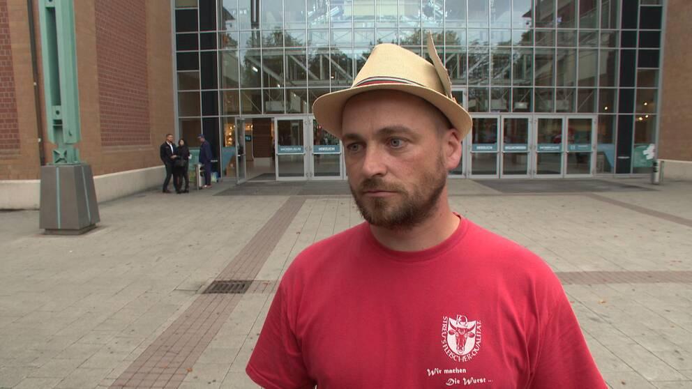 Daniel Schneider i Chemnitz oroar sig över det rykte som Chemnitz fått.