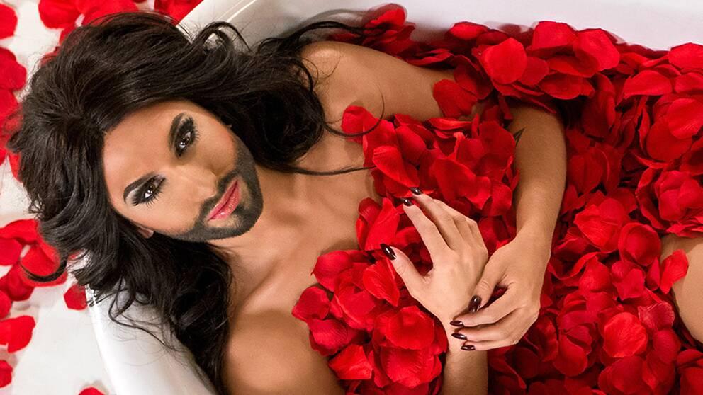 Österrikes Conchita Wurst.